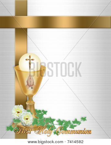 Chalice First Holy Communion Invitations First Holy Communion