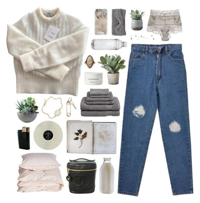 """""""having a good heart fvcks you up in this generation"""" by annamari-a ❤ liked on Polyvore featuring Acne Studios, FOSSIL, Welspun USA, Torre & Tagus, Chanel, Byredo, Casetify, CB2, Aiayu and La Perla"""