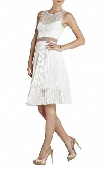 30c7969af2  138 BCBGMAXAZRIA Charlotte Woven Cocktail Dress (Off White ...