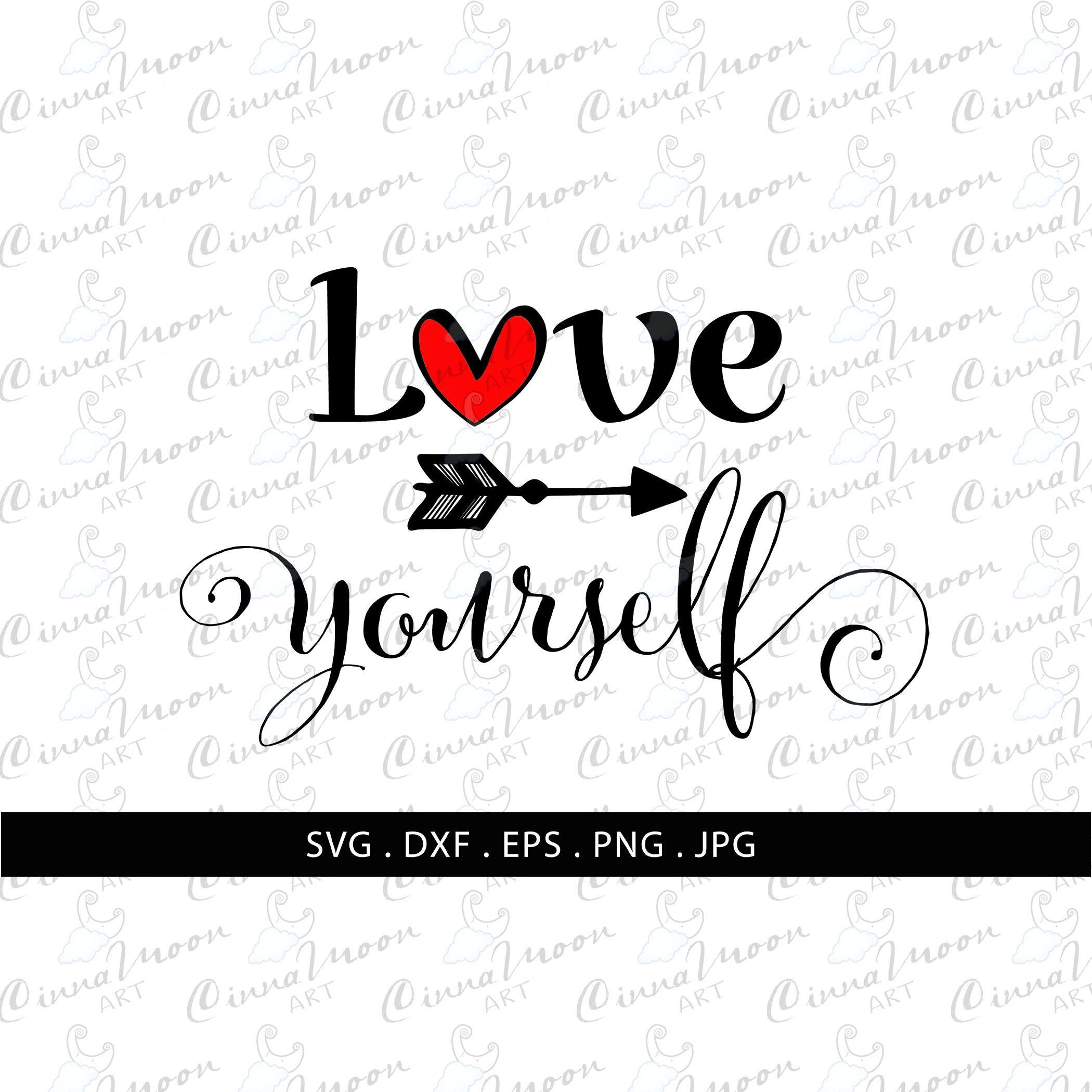 Download Love Yourself SVG-Love yourself-Love yourself png-Love ...