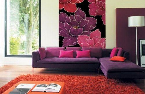 Wie Finden Sie Eine Wohnzimmer Farbgestaltung Im Lila? Die Farbe Violett  Und Ihre Dunkle Und Helle F..