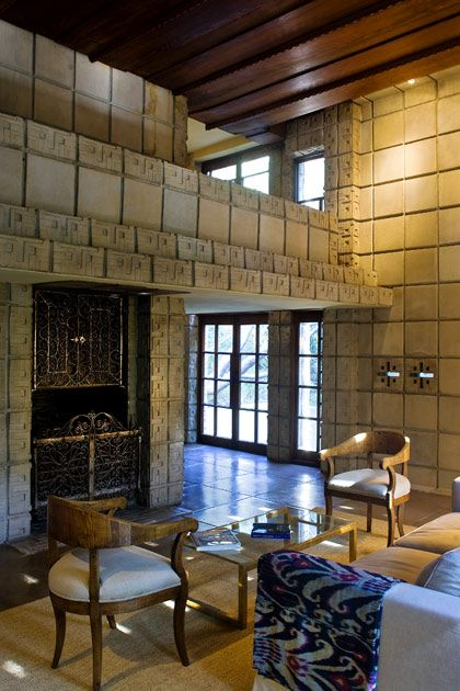 "Frank Lloyd Wright. Concrete Block period. Millard House in Pasadena. 1923. AKA ""La Miniatura"""