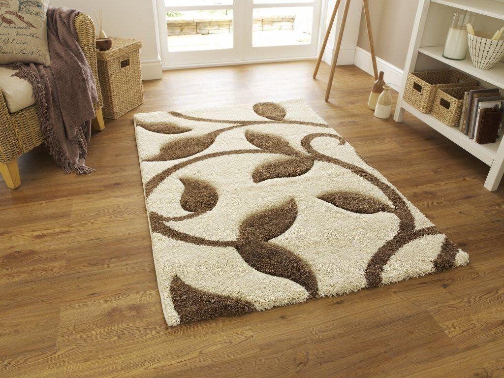 diseño moderno salón dormitorio alfombra moda crema / beige - 080 x