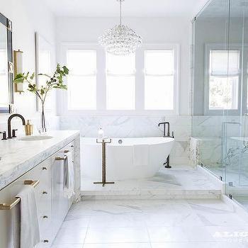 Angled Freestanding Bath Tub Elegant Bathroom Features A Crystal
