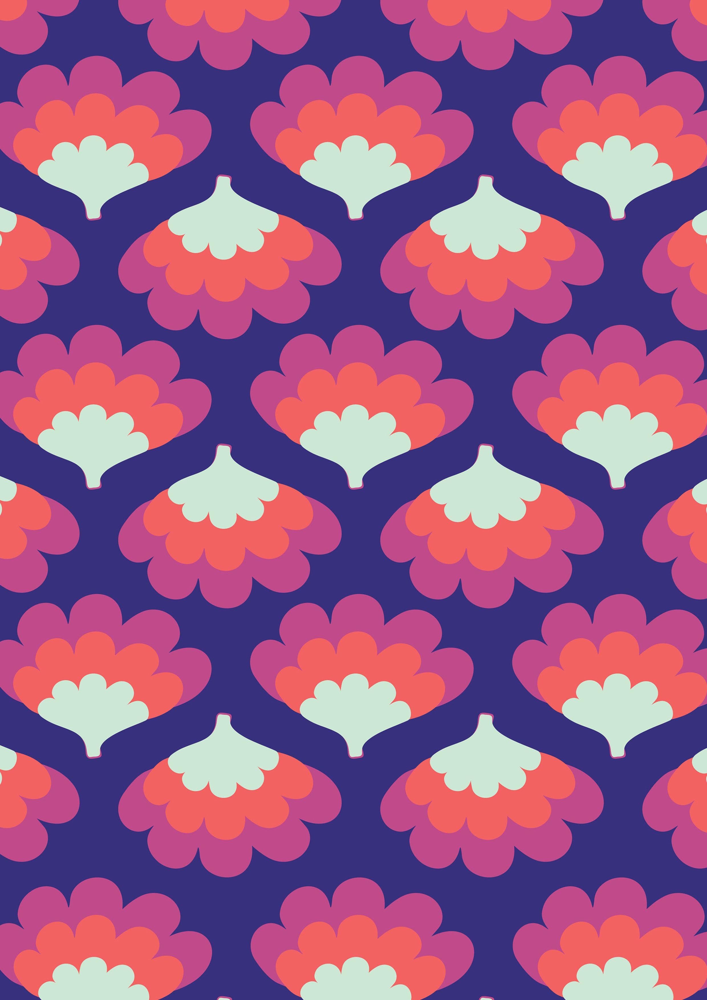 soul seventy purple   Print design pattern, Retro pattern ...