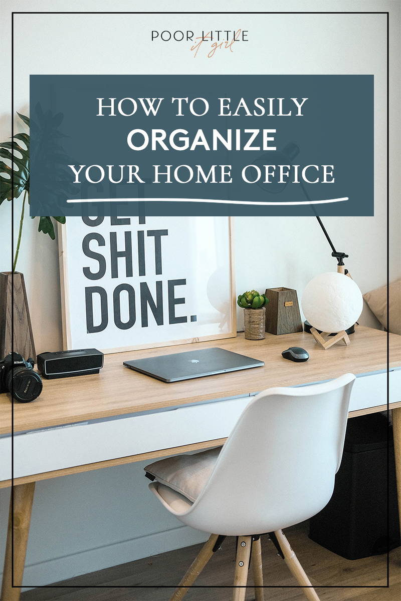 How To Organize Your Home Office Supplies Poor Little It Girl In