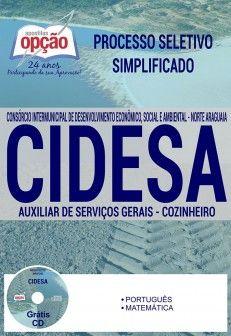 Apostila Concurso Cidesa Cargos Auxiliar De Servicos Gerais E