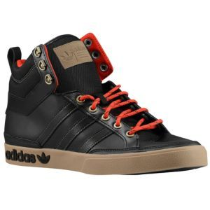 adidas Originals Top Court Hi - Men's - Basketball - Shoes - Black/Vivid Red