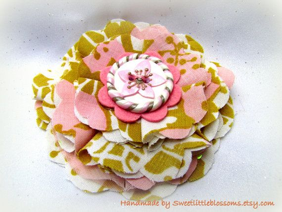 Flower Hair Clip  Vintage Shabby Chic  by Sweetlittleblossoms, $14.50