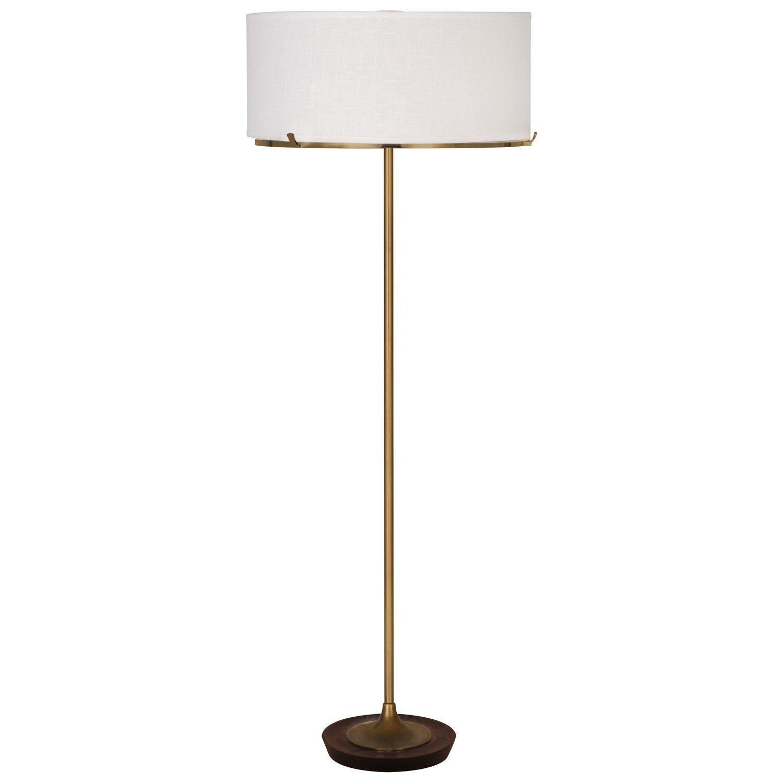 Robert Abbey 2741 Edwin 2 Light Floor Lamp in Aged Brass