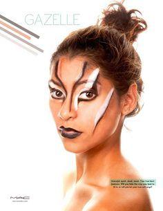 Gazelle Facepaint On Pinterest Yellow Makeup Dark