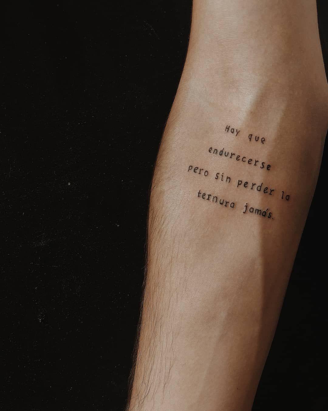Hay Que Endurecerse Pero Sin Perder La Ternura Jamas Obrigada Thierry Lethierry Tattooapprentice Tattoo Apprentice Body Art Tattoos Tattoos