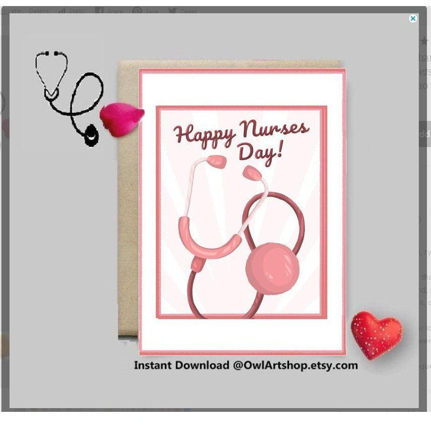 Nurse appreciation card nurses day pink card with