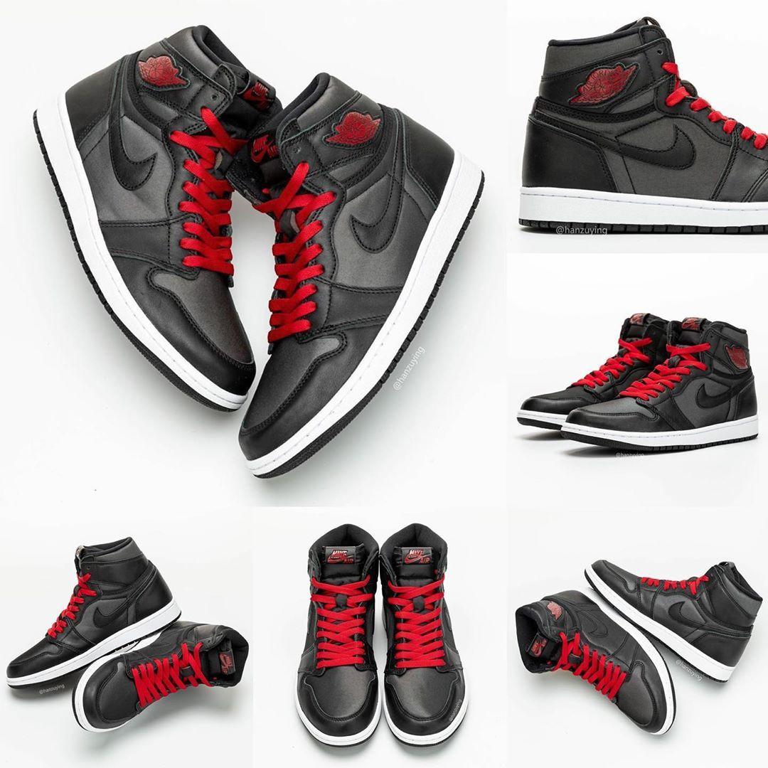 2020 Air Jordan Retro 1 High Og Black Gym Red Black White 555088