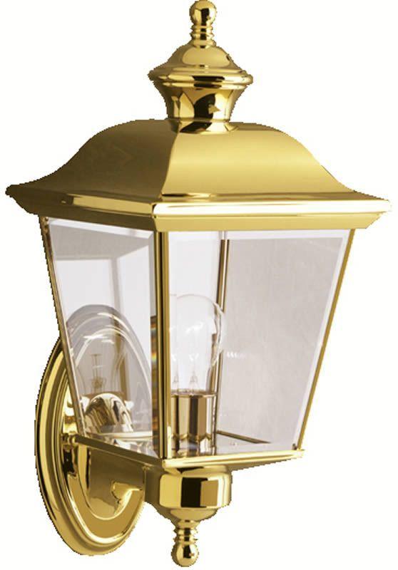 0 032280 16 H Bay Shore 1 Light Outdoor Polished Brass Brass Outdoor Lighting Outdoor Wall Lighting Wall Lights