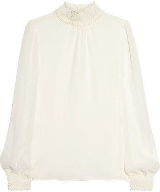 ShopStyle: Valentino Silk-georgette blouse