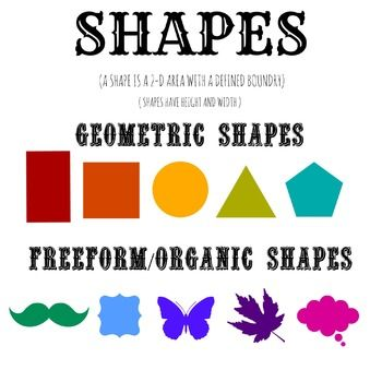 Elements of Art- SHAPE poster | Shape, Search and Shape posters