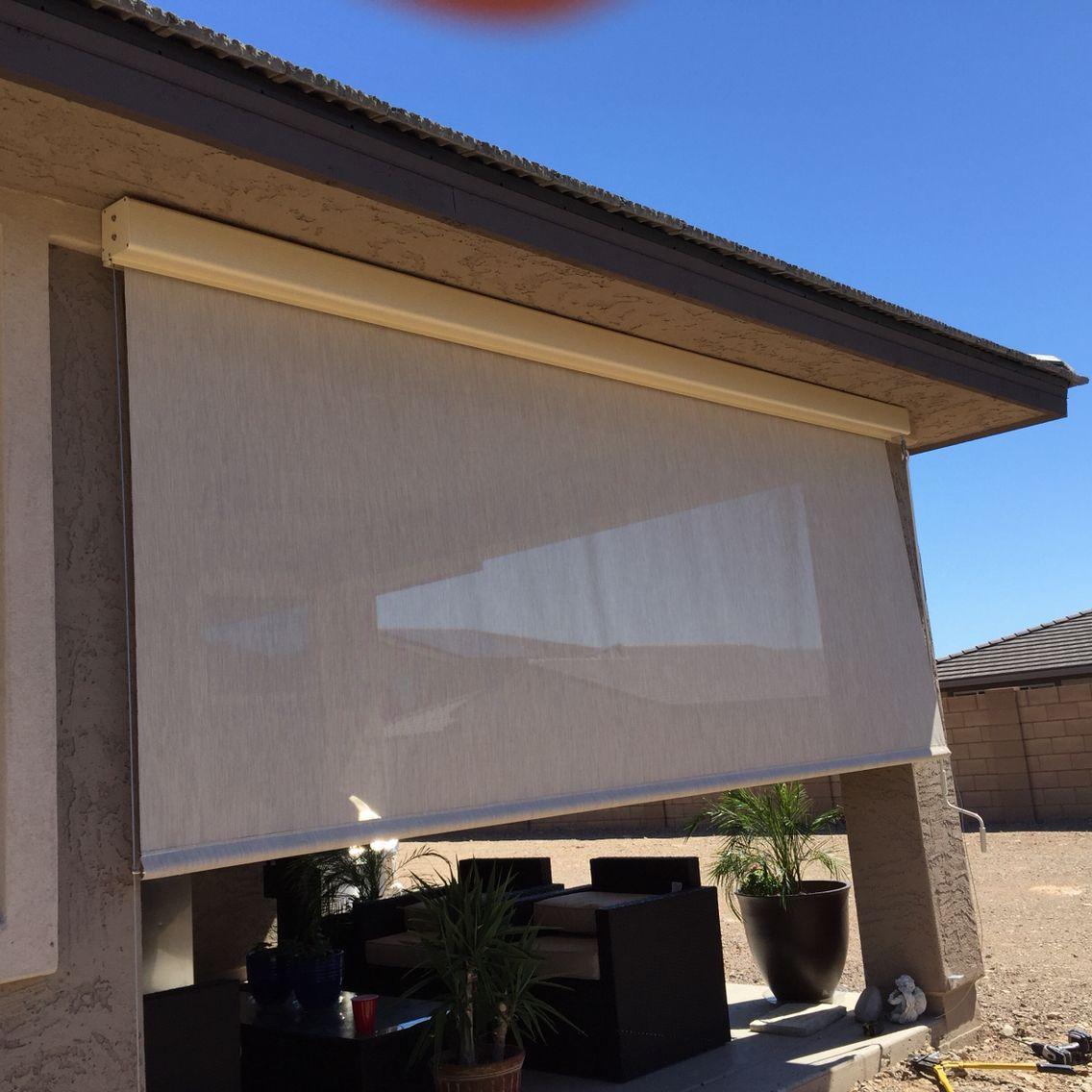 Roll Down Shades Crank System Phoenix,AZ | Patio Roll Down Shades ...