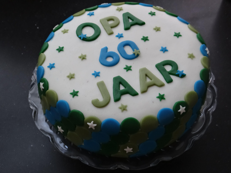 Pics photos opa jarig picture - Een Mannentaart Stoer Groen Met Blauw Voor Opa Alweer 60 Jaar