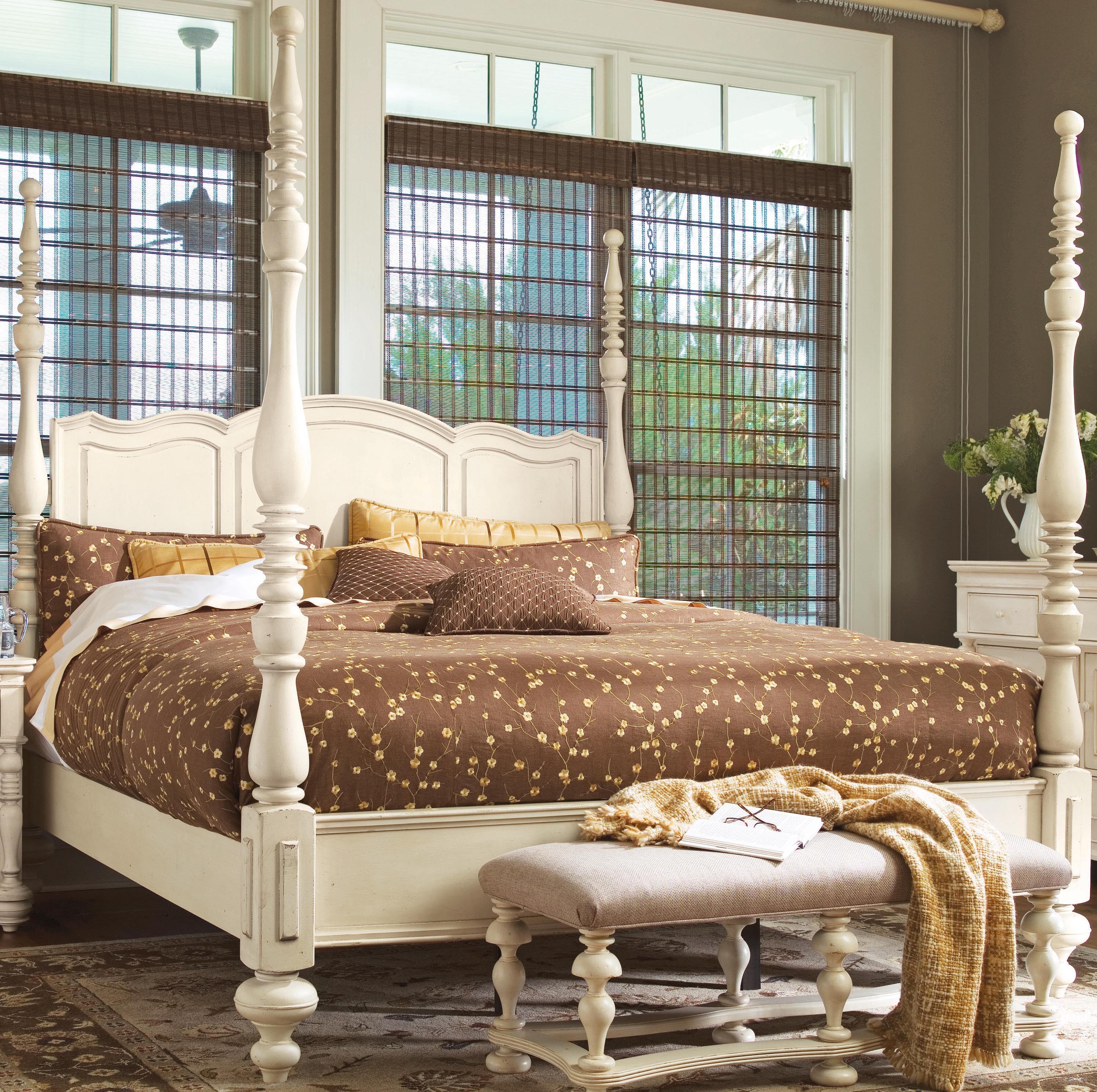 Uf 996260fr Paula Deen Linen Savannah King Poster Bed