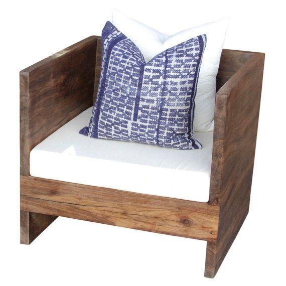 Reclaimed Teak Club Chair Teak Wood Club Chair By DeCorPasadena