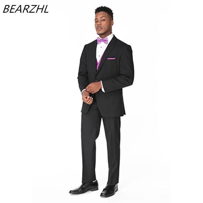 groom wedding suit summer tuxedo 3 piece suits for 2017 dress ...