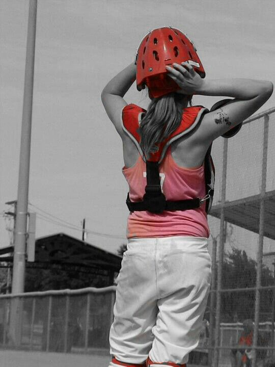 Picsart color pop. My girl behind the plate.