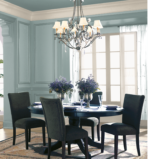 2018 Colour Of The Year Behr In The Moment Colour Review Kylie M Interiors Green Dining Room Green Dining Room Walls Dining Room Design