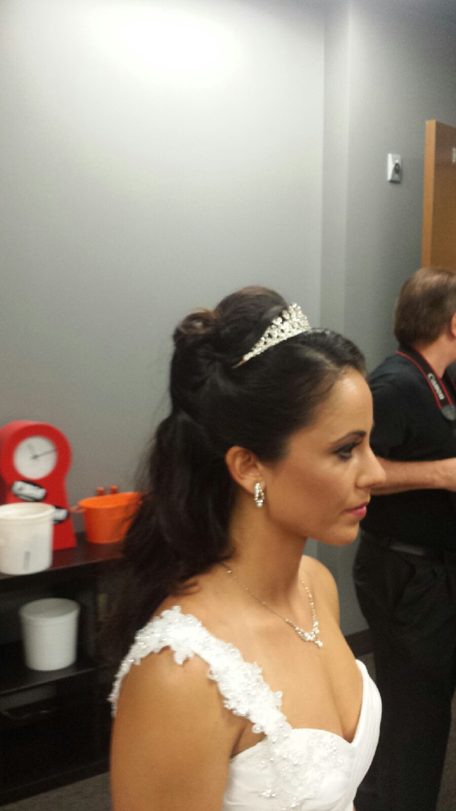 By Penny Team Bride Ocala Fl Wedding Day Hair Extensions Before