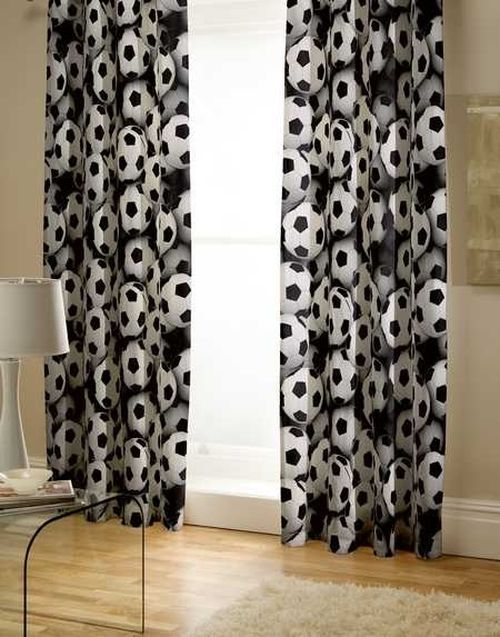 Footballowe Szalenstwo Football Curtains Soccer Themed Bedroom Football Bedroom