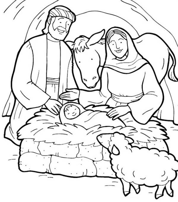 Jesus Is Born Bible Christmas Story Coloring Pages Best Place To Color Jesus Coloring Pages Nativity Coloring Pages Bible Coloring Pages