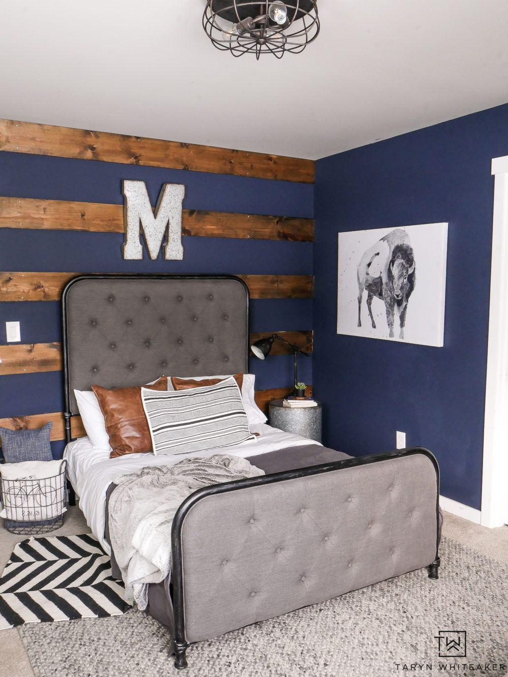 Best Navy Blue Boys Bedroom Rustic Boys Bedrooms Blue Accent 400 x 300