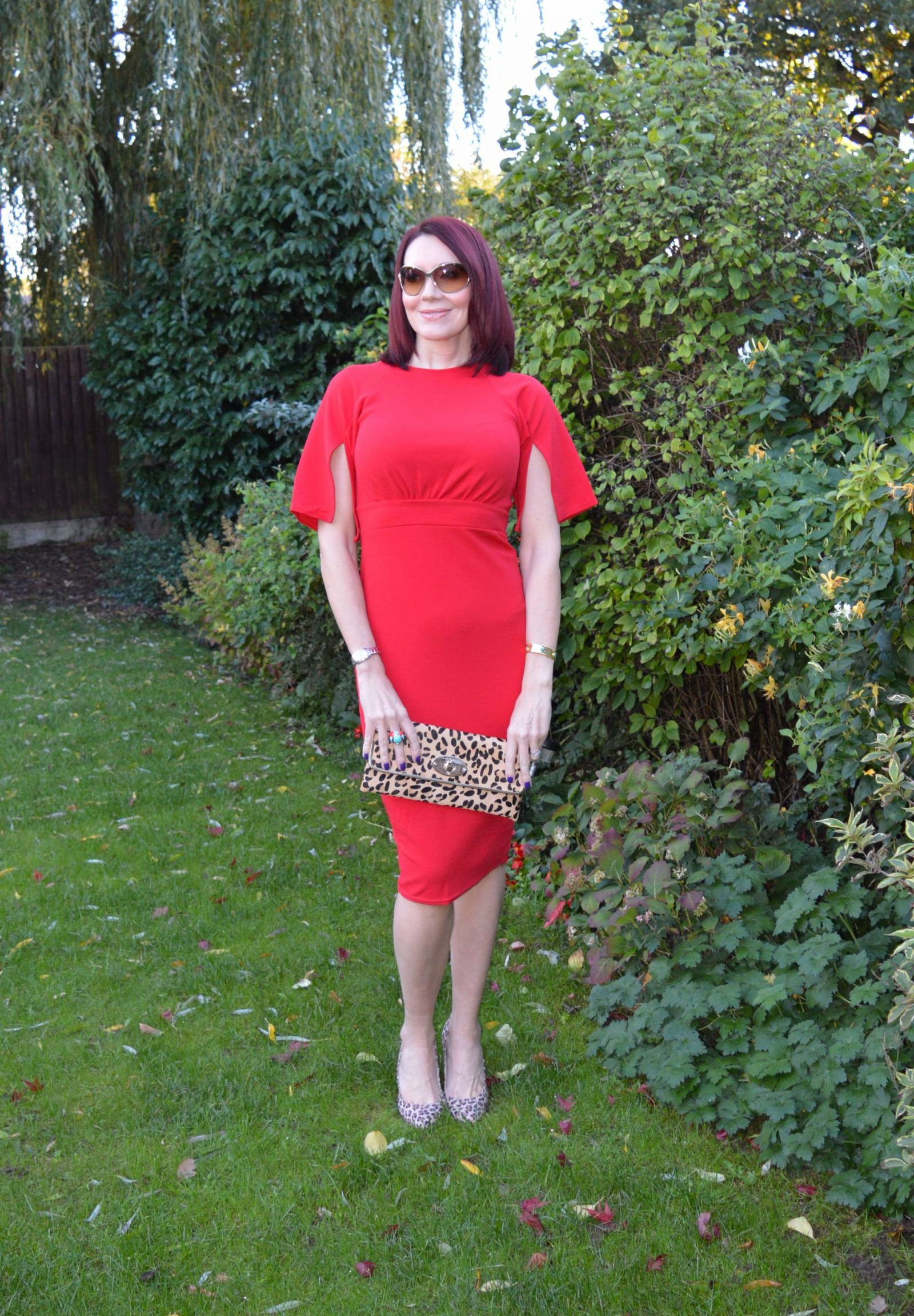ba909798e57 Red dress with leopard print accessories + link up   Emma Peach