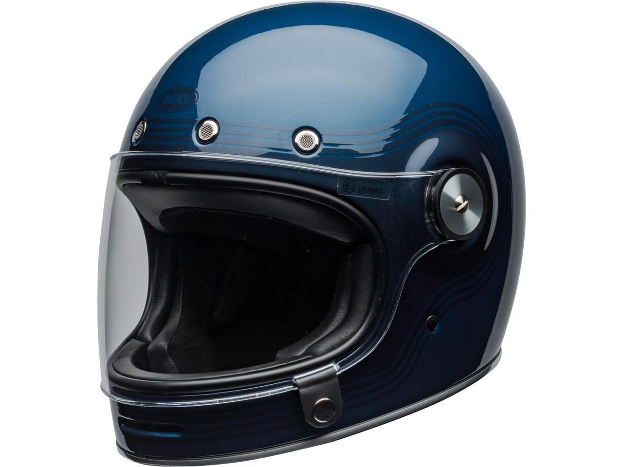 Bell Bullitt Dlx Flow Lightblue Darkblue Ece Retro Motorcycle Helmets Full Face Helmets Bell Helmet
