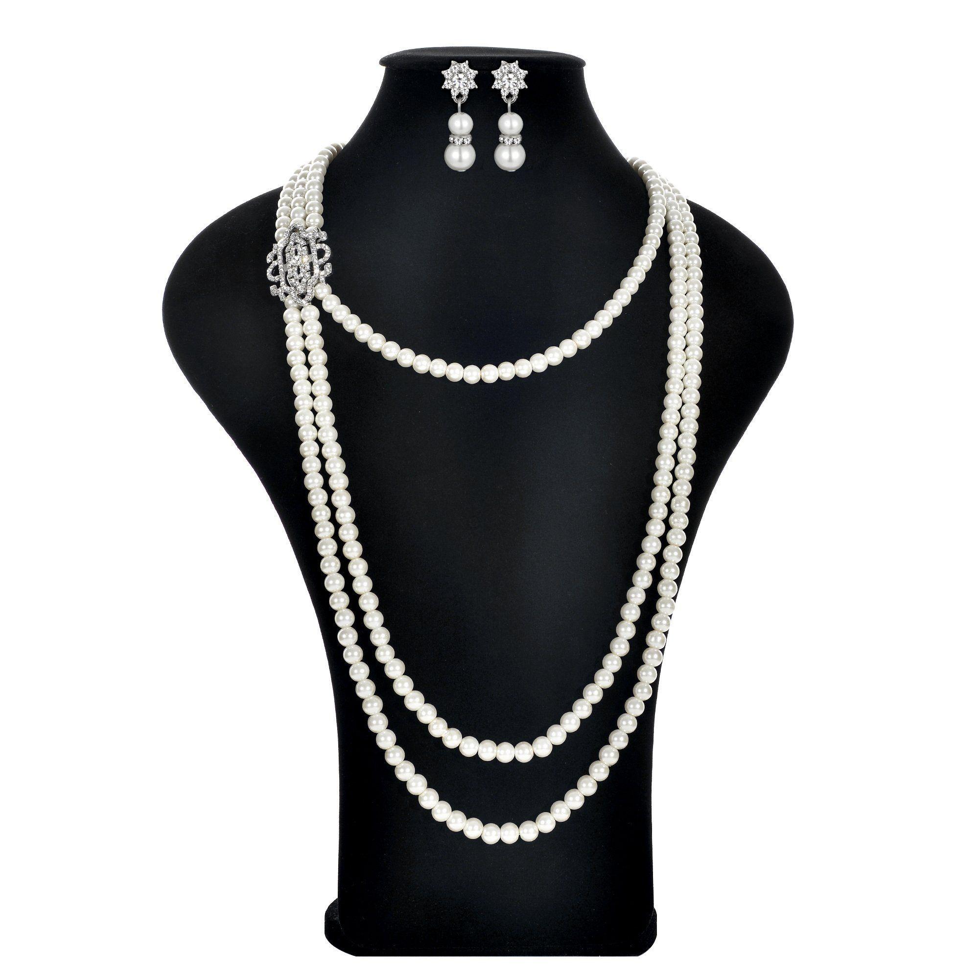 1920s Flapper Charleston Pearl Choker Necklace Fancy Dress Gatsby Accessory New