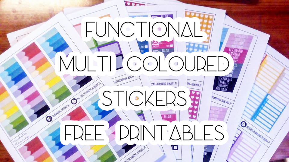photo regarding Free Printable Functional Planner Stickers identified as Absolutely free Printable Simple Planner Stickers