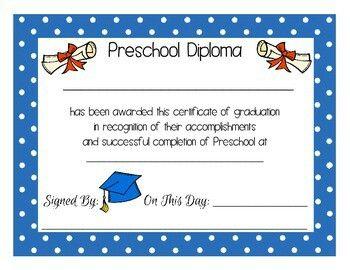 Preschool diploma. PreK diploma. | Super Star Grads | Pinterest ...