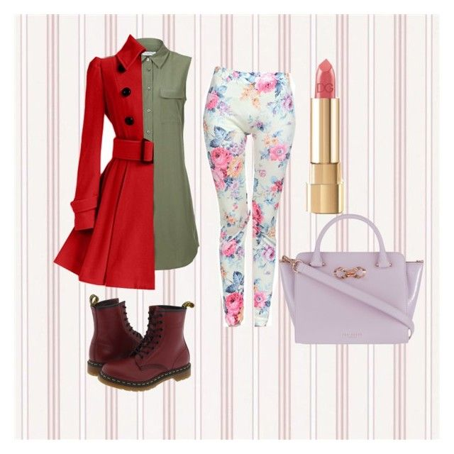 """""""School outfit #5"""" by sharkgirl221 on Polyvore featuring Equipment, Dr. Martens, Dolce&Gabbana and Ted Baker"""
