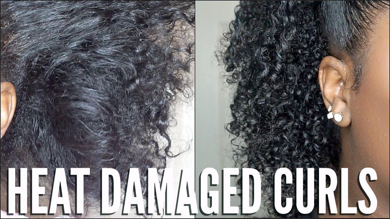 Heat Damaged Natural Hair Simple Curl Routine Video Heat Damaged Natural Hair Natural Hair Repair Natural Hair Styles