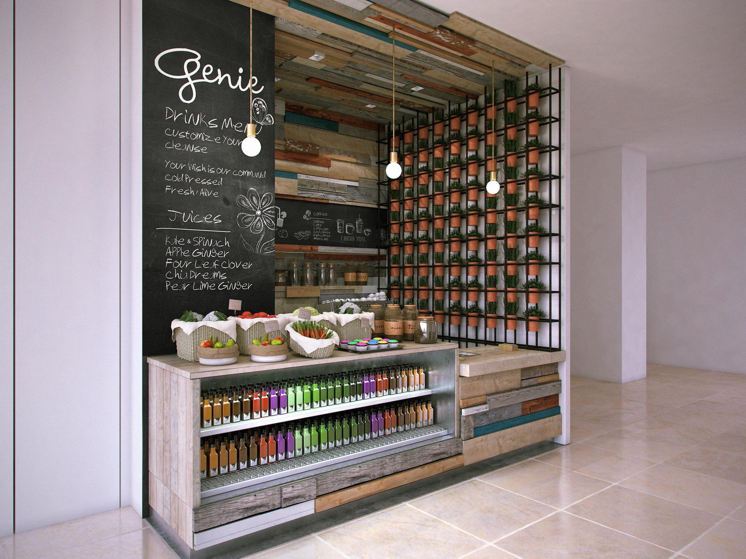 Genie juice bar mitchel squires associates architecture interior design