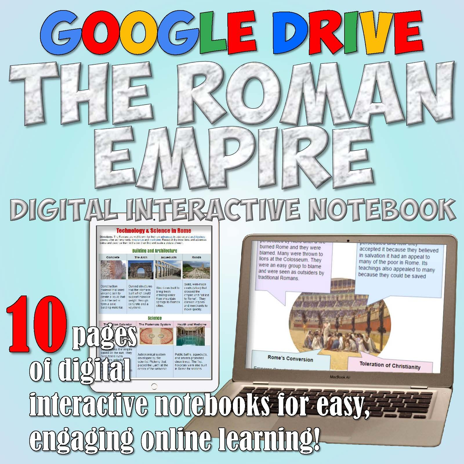 Roman Empire Drive Interactive Notebook