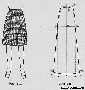 Раскрой шитье юбки