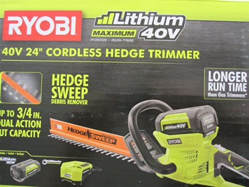 Http Yourlawnandgarden Info Ryobi 40 Volt Cordless Hedge Trimmer 24 Includes Lithium Ion Battery Plus Charger Hedge Trimmers Trimmers Best Riding Lawn Mower