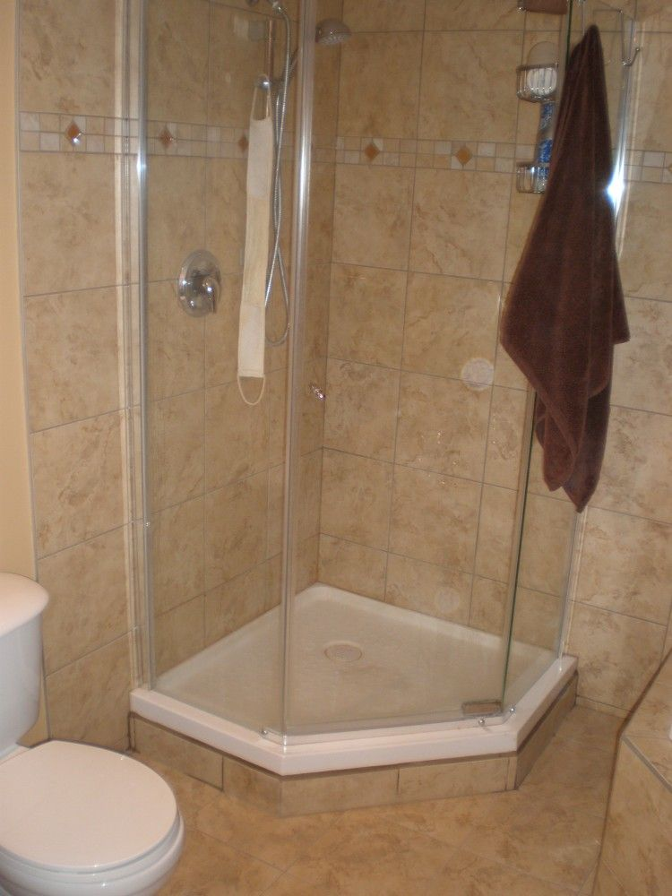 Surprising Inspiration Bathroom Elegant Corner Shower Enclosure With