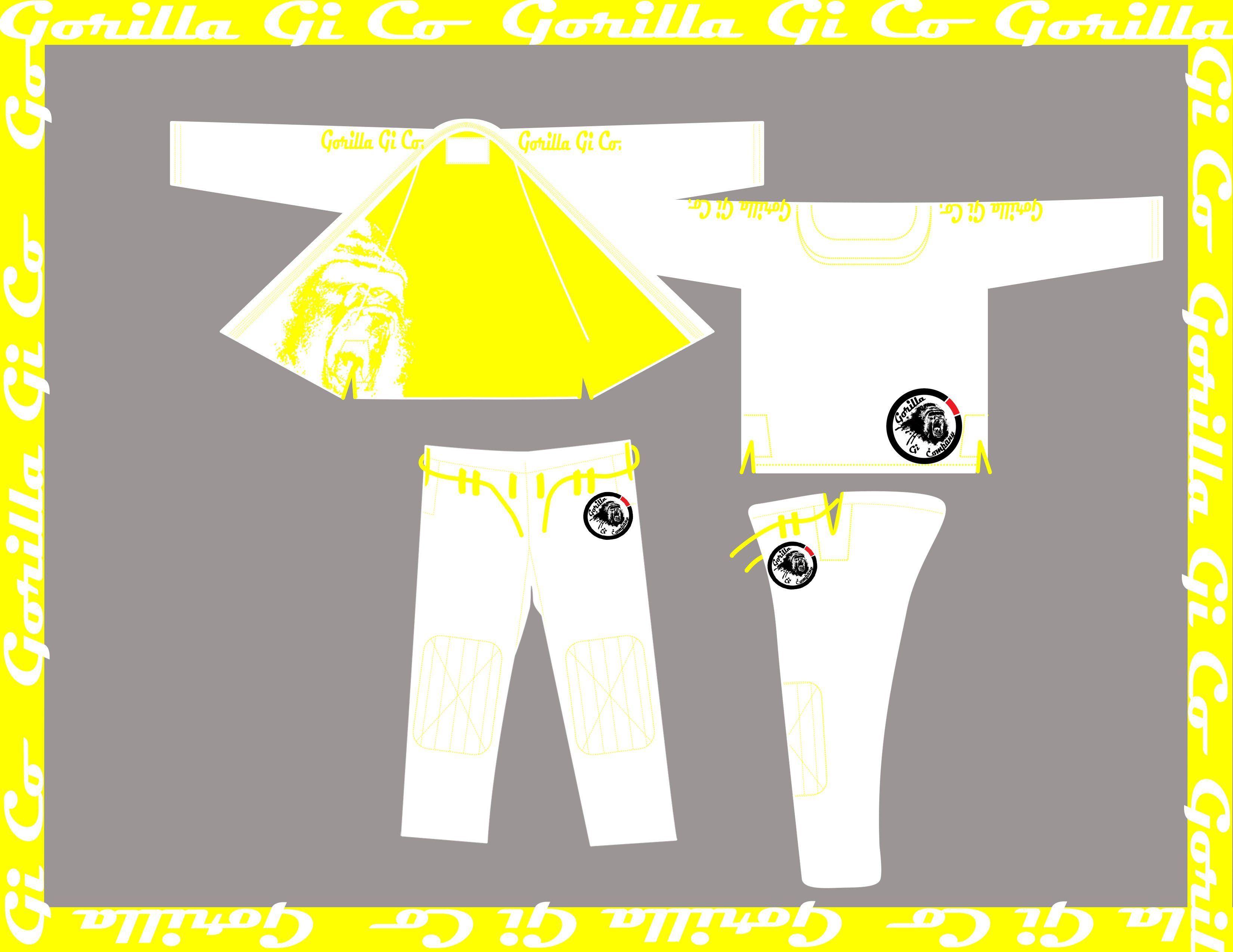Gorilla Gi Co Kids Roar Classic Bjj Gi V15 White Products