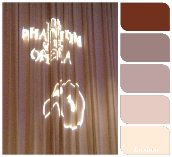Color palette of my life. My son's high school musical opening day, Phantom of The Opera.