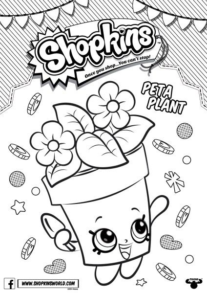 Shopkins Peta Plant Coloring Pages Printable And Book To Print For Free Find More Online Kids Adults Of