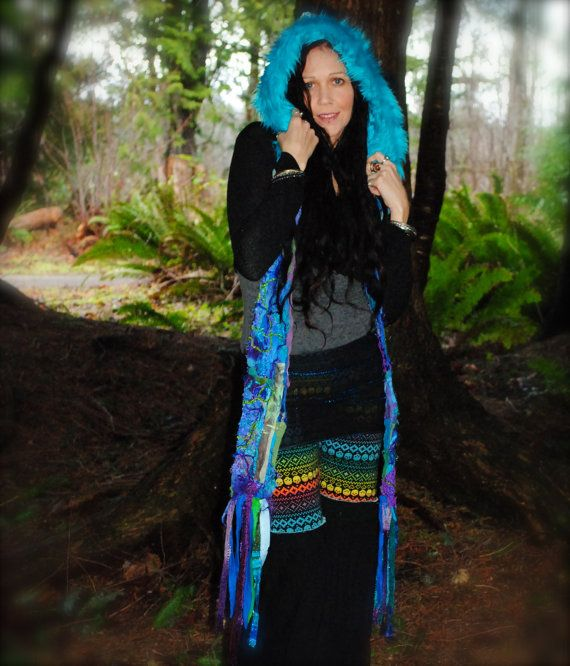 Scoodie Pixie Hooded Scarf FestivaL by IntergalacticApparel