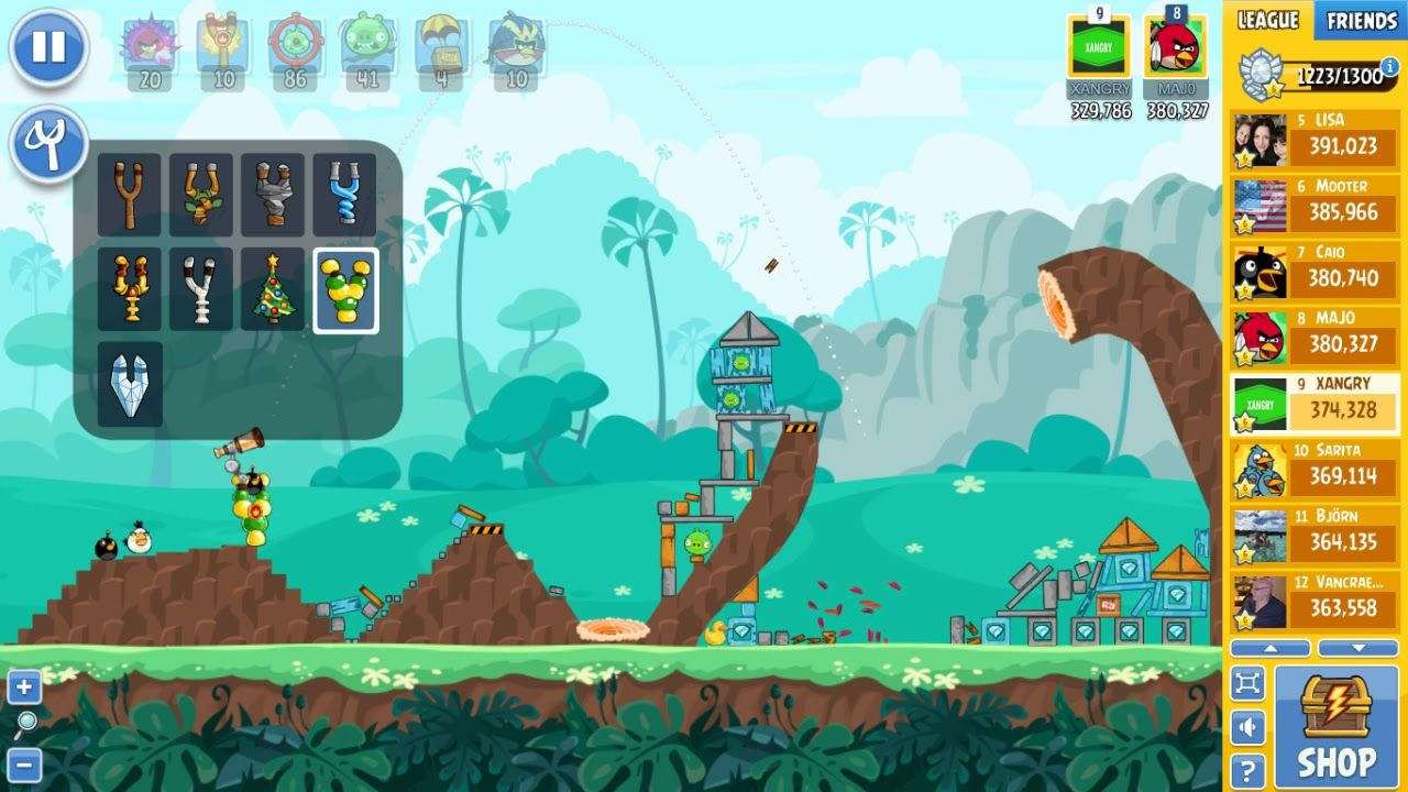 Angry Birds Friends Tournament 332-C Level 8 POWER UP