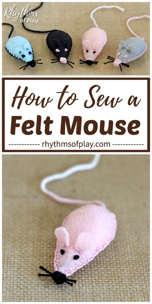How to Sew a Felt Mouse Plush Toy